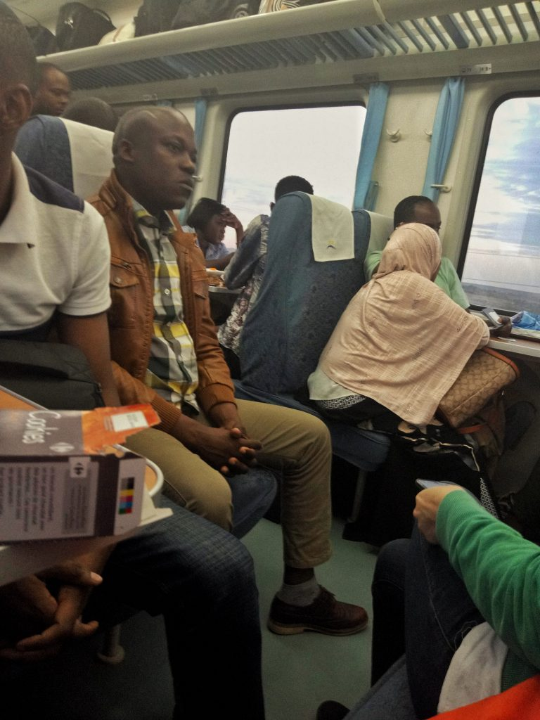 A photo of people in SGR Railway form Nairobi toMombasa by weonboard.com