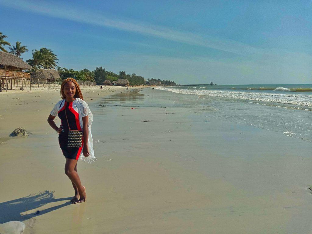 A photo of a woman at Mbezi Beach Tanzania by weonboard.com