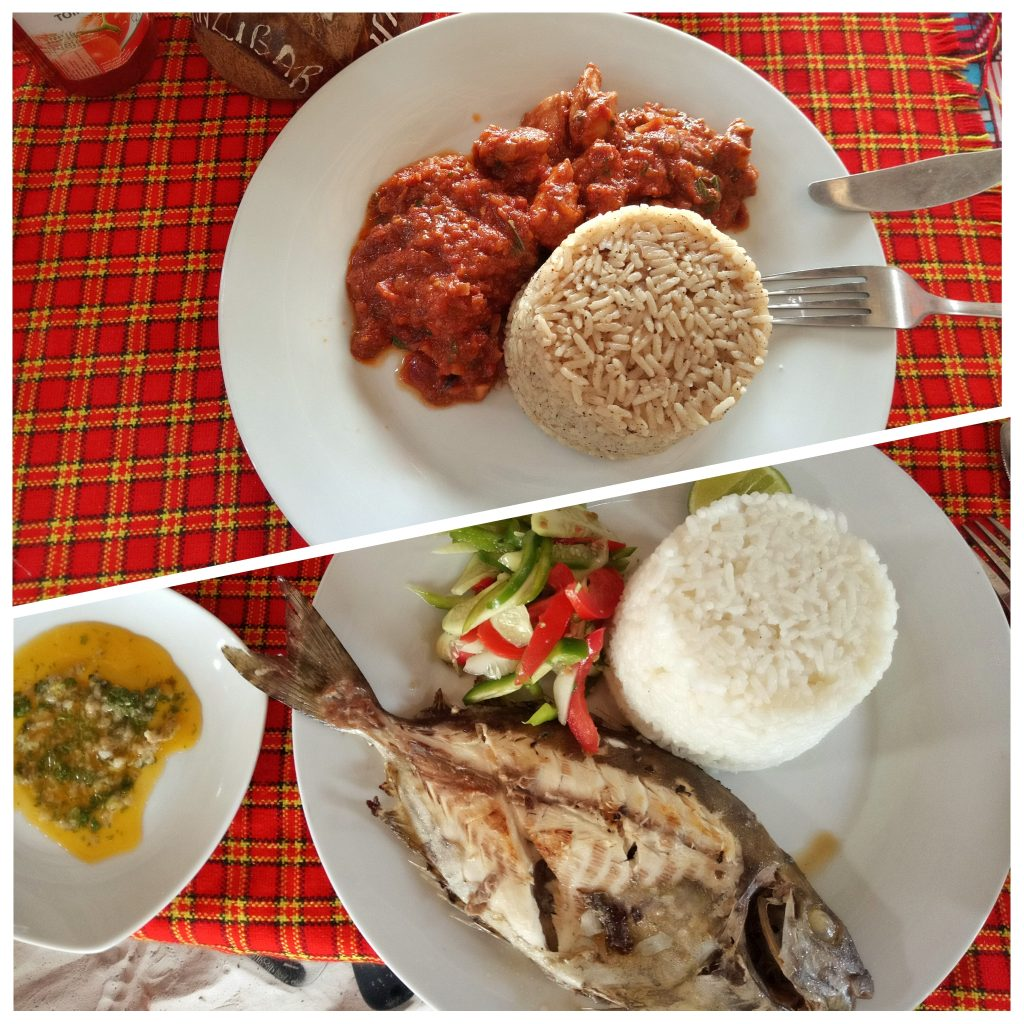 Pilau dish and Fish on a plate in zanzibar by weonboard.com